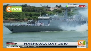 Kenya Navy displays its arsenal at sea during 2019 Mashujaa Day