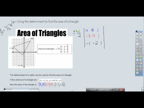 Finding the Area of a Triangle with the Determinant of a Matrix w/TI-Nspire