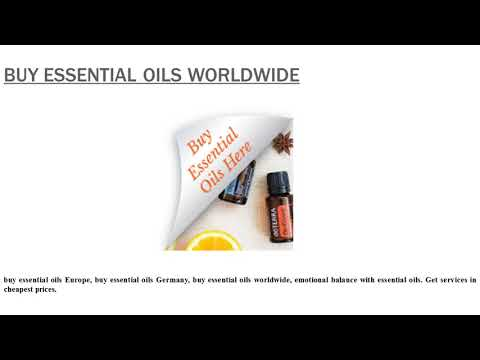 buy essential oils worldwide