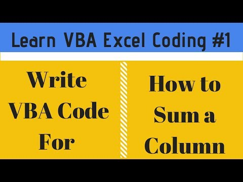 Learn VBA Code Sum a Column In Excel