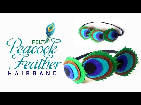 DIY Peacock feathers hair band tutorial
