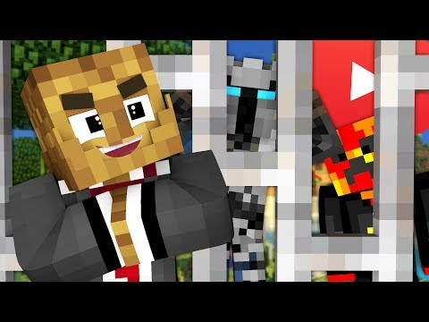YOUTUBER BREAK OUT MINECRAFT MODDED PRISON ESCAPE - MODDED COPS AND ROBBERS