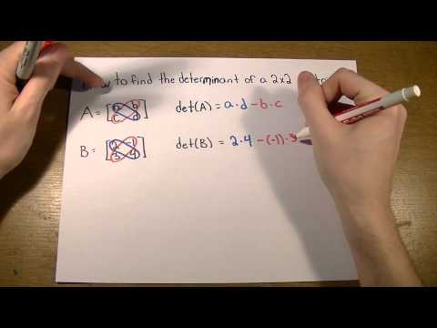 How to find the determinant of a 2x2 matrix