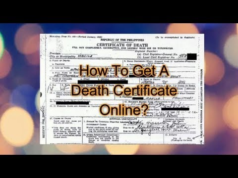 How To Get Death Certificate Online - NSO Philippines