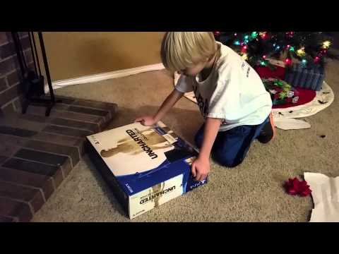 8 year old's reaction to getting a ps4 for Christmas