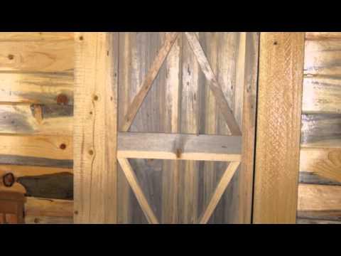 Gibb Smith's Blue Stain Pine Door