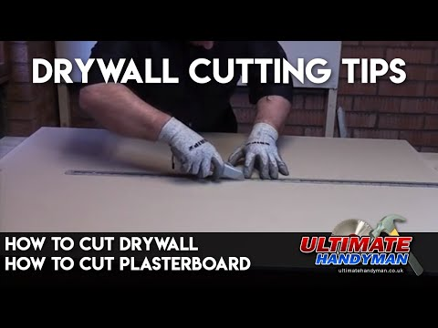 How to cut Drywall | How to cut plasterboard