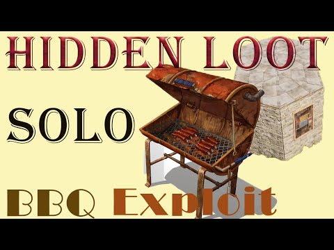 Hidden Loot Room BBQ exploit I Solo Base I Rust Base Design Tutorial I Building 3 I 2018
