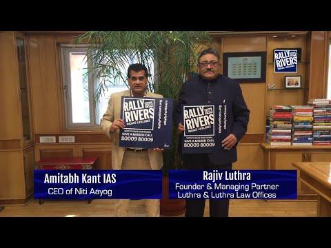 Rajiv Luthra & Amitabh Kant for Rally For Rivers