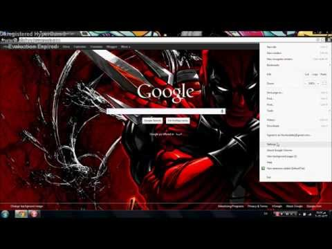 How to get chrome Themes and set a background for google home page