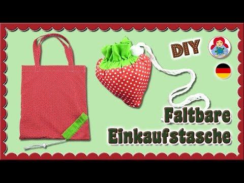 DIY | Faltbare Einkaufstasche im Erdbeerdesign • Sami Dolls Tutorials