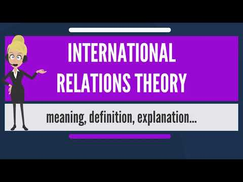 What is INTERNATIONAL RELATIONS THEORY? What does INTERNATIONAL RELATIONS THEORY mean?