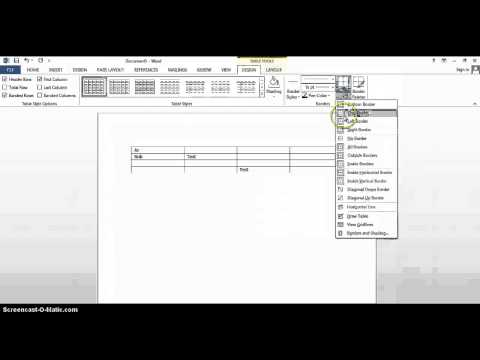 Removing borders in Word table