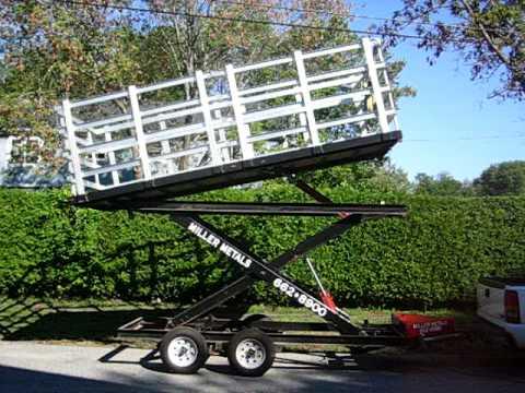 Miller-Metals.com Hydraulic Scissor Lift Dump Trailer
