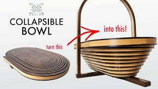 How to Make a COLLAPSIBLE Bowl!! It's EASIER than you might think!