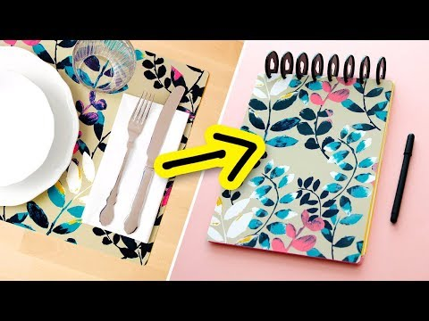 DIY Notebook from IKEA Placemats! | Sea Lemon