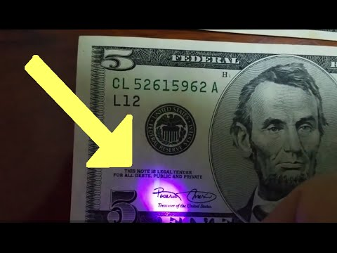 U.S. Banknotes: Secret UV Security Features