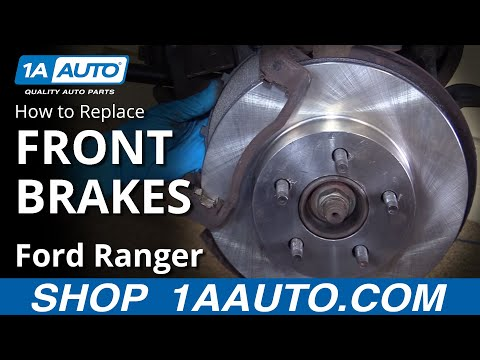 How to Install Replace Front Brakes Pads Rotors 1995-02 Ford Ranger