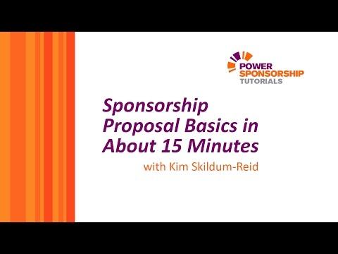 Sponsorship Proposal Basics in About 15 Minutes