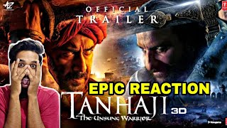 Tanhaji The Unsung Warrior Trailer Reaction By Dev, Ajay Devgn, Kajol, Saif Ali Khan, Tanhaji Epic