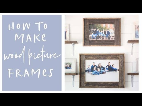 DIY Home Decor Wood Farmhouse Picture Frames