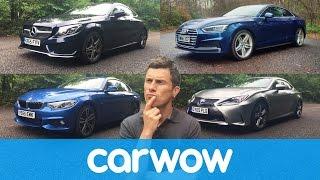 Audi A5 v Mercedes C-Class Coupe v BMW 4 Series v Lexus RC | Head2Head