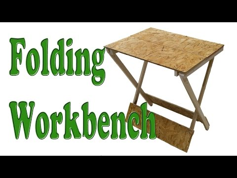 Make A Folding Table Woodworking Project