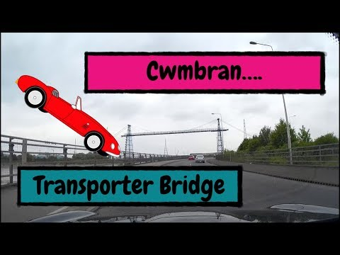 Speeded up Journey from Cwmbran down to the Transporter Bridge, Newport