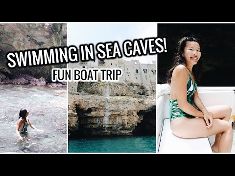 SWIMMING IN SEA CAVES! BOAT TOUR POLIGNANO | Italy Travel Vlog #8