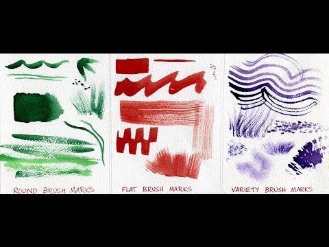 Watercolor Painting Lessons - Brush Techniques