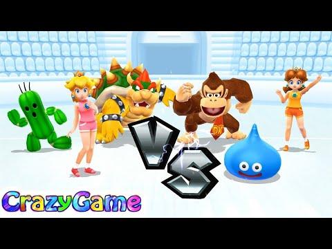 Mario Sports Mix - Team Peach vs Team Daisy Expert Difficult Volleyball Gameplay | CRAZYGAMINGHUB