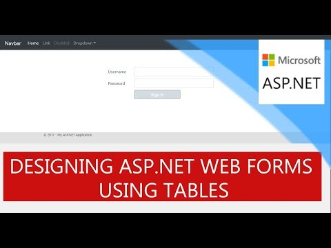 Asp.Net Web Forms Designing  Using Tables