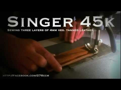 Singer 45k - Sewing leather