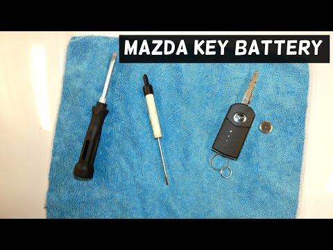 MAZDA REMOTE CONTROL KEY BATTERY REPLACEMENT CX-7 MAZDA 3 MAZDA 6 MAZDA 5