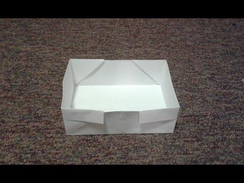 Easy Origami Box Tutorial