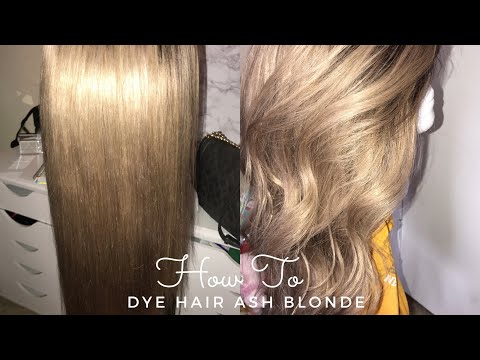 HOW TO DYE HAIR ASH BLONDE | GET RID OF BRASSY/GRAY TONES!