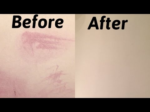 HOW TO REMOVE THE TOUGHEST STAINS ON YOUR WHITE COUNTER - HAIR DYE - AMAZING RESULTS !!!