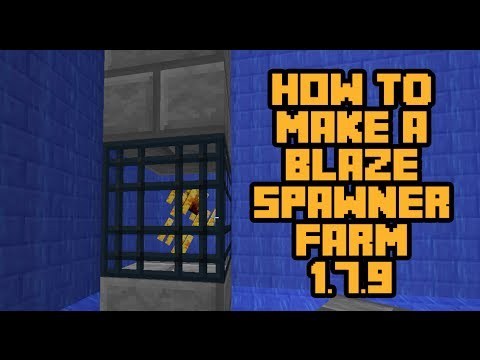 How to make a Blaze Farm [Timelapse] (with spawners) 1.8+