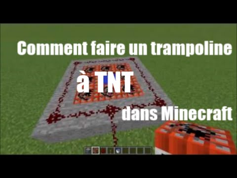 Comment faire un trampoline à TNT (Minecraft PC/PE/PS3/PS4/PSVITA/XBOX 360/XBOX ONE) [Tutoriel] [FR]