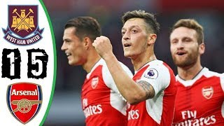 West Ham Vs Arsenal 1 5 All Goals Highlights Last Matches HD