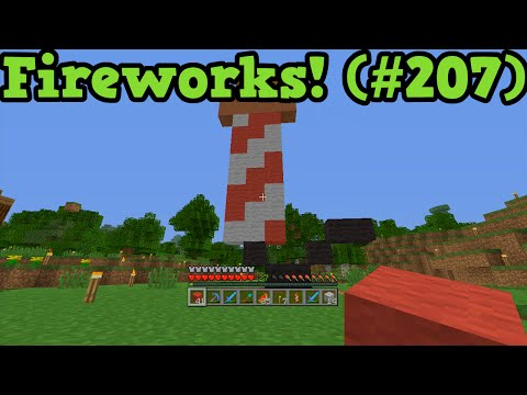 Minecraft Xbox TU19 lets Play #207 - How To Make Fireworks