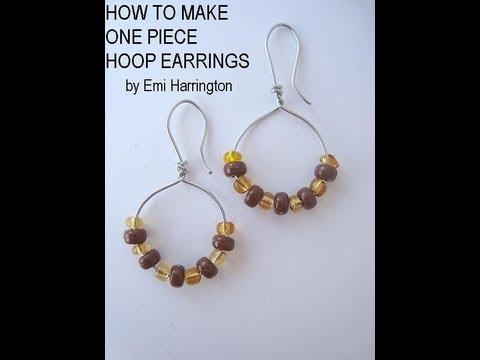 JEWELRY MAKING, how to make one piece hoop earrings.