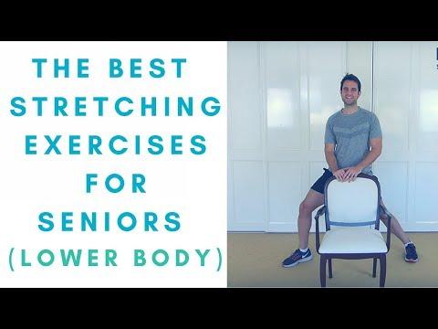 The Best Leg Stretches for Seniors - Part 1: Lower Body -  Seniors Exercises