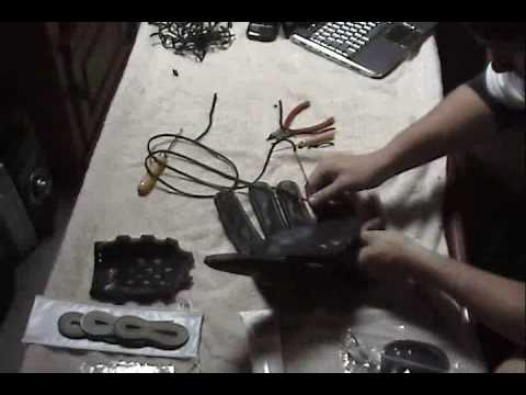 How To Relace or Restring the PALM of a baseball glove (2 of 6)