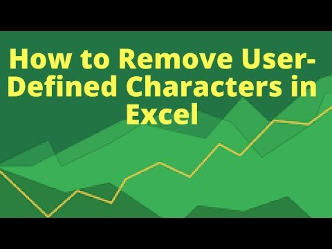 How to Remove User-defined Charcacters in Excel | Excel addins
