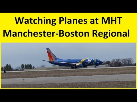 Plane Spotting at Manchester Boston Regional Airport Manchester New Hampshire