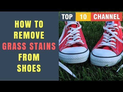 How To Remove Grass Stains From Canvas Shoes | How to Get Grass Stains out of Your Shoes and Clothes