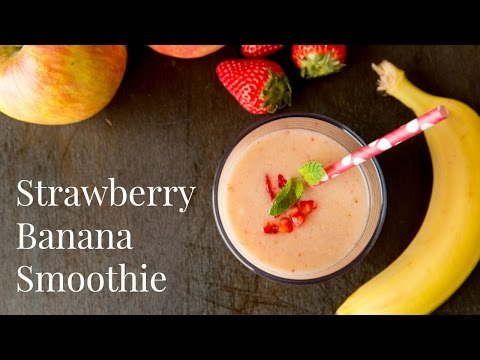 How To Make Strawberry Banana Smoothie (Recipe) ストロベリーバナナスムージーの作り方 (レシピ)