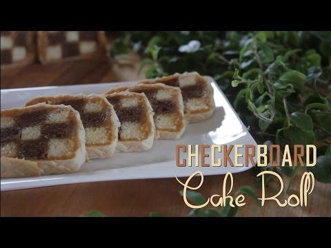Checkerboard Cake Roll Recipe