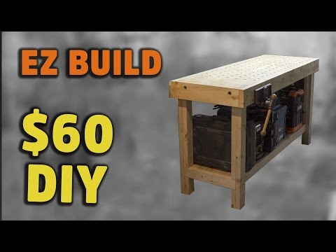 BUILD: Simple torsion box workbench with handy fixturing surface - HNB #2